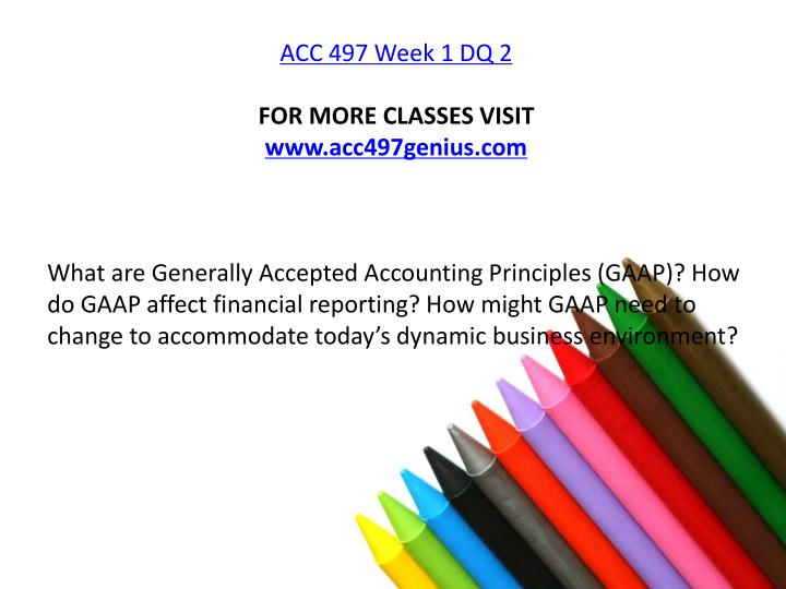 acc 497 case study 1 49 For more classes visit wwwacc497geniuscom this tutorial contains 2 papers/presentation for most of the assignments (see details below) acc 497 individual assignment fasb codification system orientation paper acc 497 week 1 case study cash basis or accrual basis.