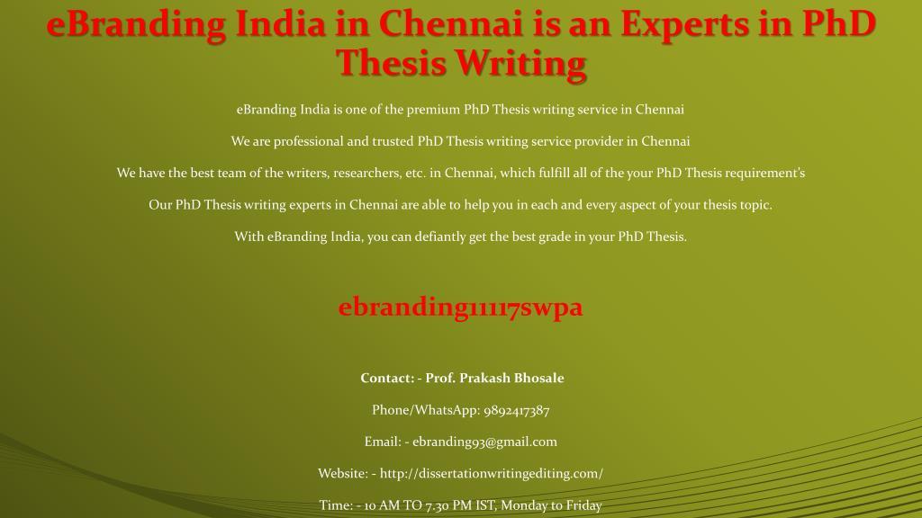 PHD Thesis Writing Services in Chennai, PHD Assistance | Sulekha Chennai