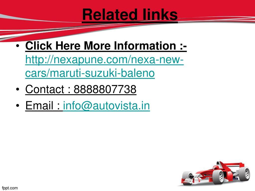 PPT - Maruti suzuki baleno Nexapune PowerPoint Presentation - ID:7574497