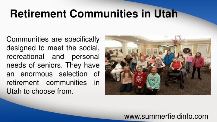 Ppt Retirement Communities In Utah Senior Living Utah
