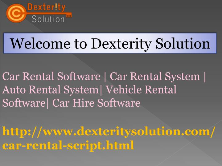 welcome to dexterity solution n.