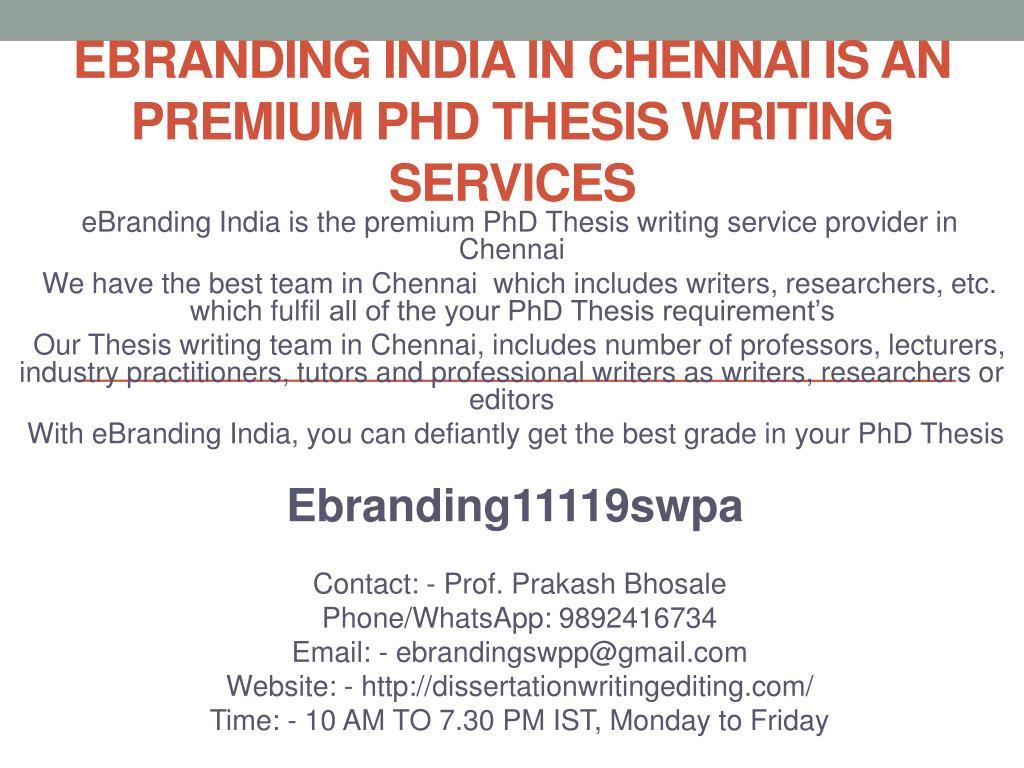 Dissertation help service chennai