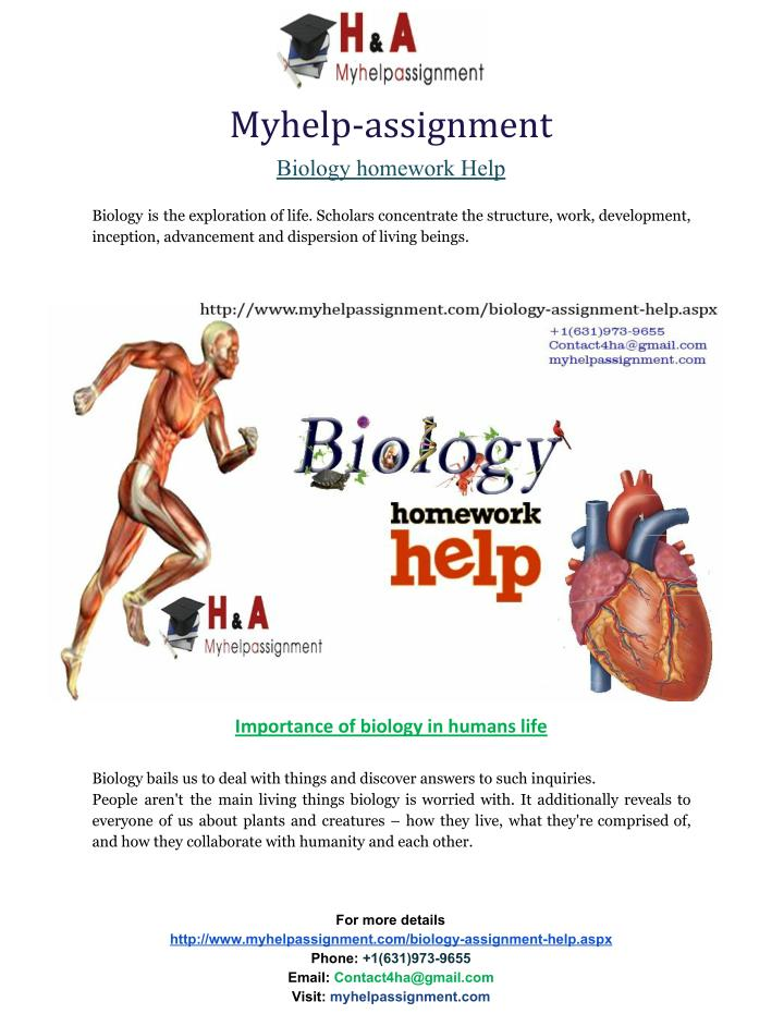 Myassignmenthelp.net makes it easy for you to complete your Biology assignment.