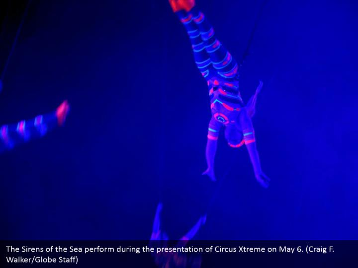 The Sirens of the Sea perform during the presentation of Circus Xtreme on May 6. (Craig F. Walker/Globe Staff)