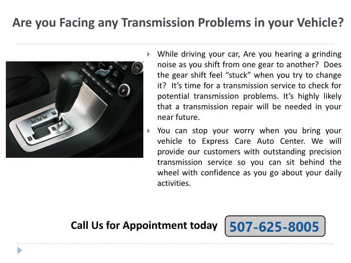 Ppt Transmission Repair Shop Express Car Care Auto