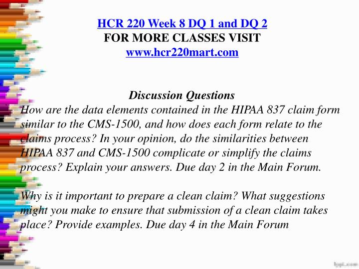 hcr 220 week 7 evaluating compliance strategies Errors in the office can be avoided by having a compliance process in effect using updated billing and coding software will help reduce errors made in the billing process i agree with having a guide consisting of codes to aid in the billing process.