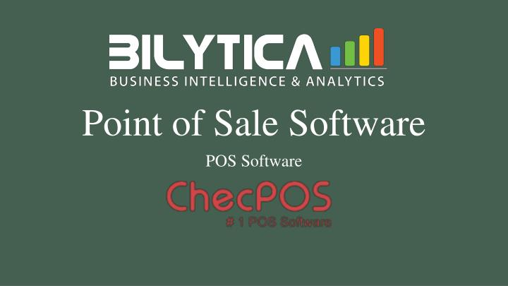 point of sale software n.