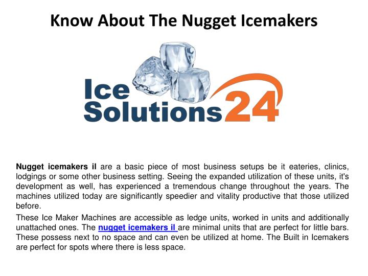 know about the nugget icemakers n.