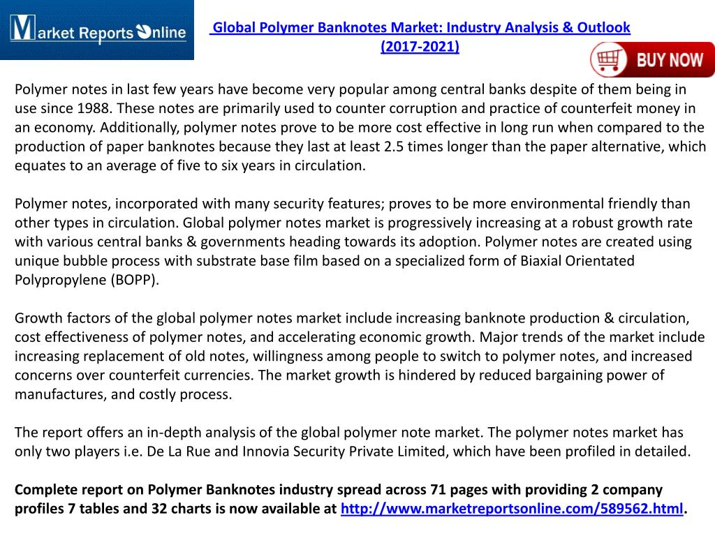 PPT - New Study on 2017 Global Polymer Banknotes Market