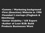 comms marketing background first geocities