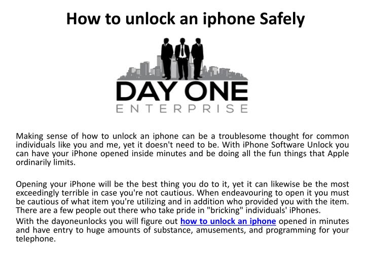 how to unlock an iphone safely n.
