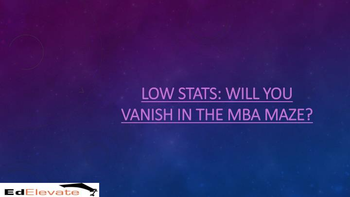 low low stats will you stats will you vanish n.