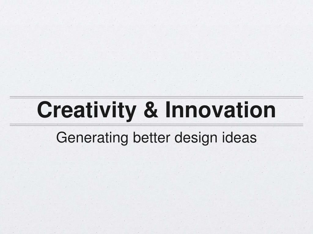 ppt generating better design ideas through collaboration