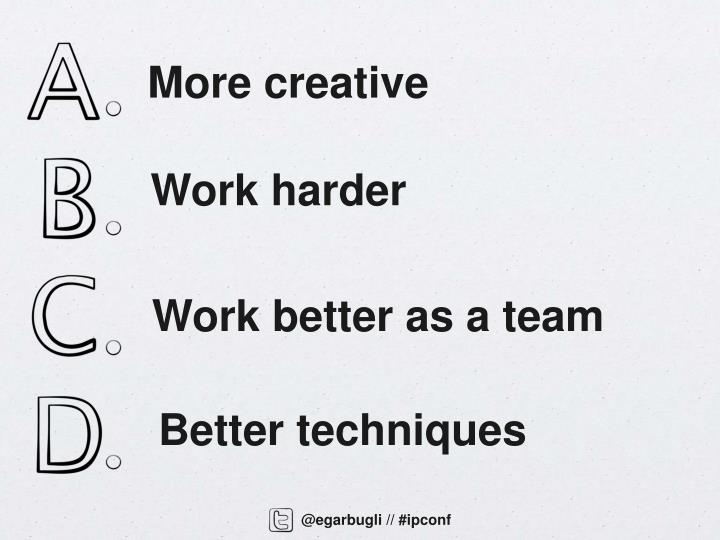 Work better as a team