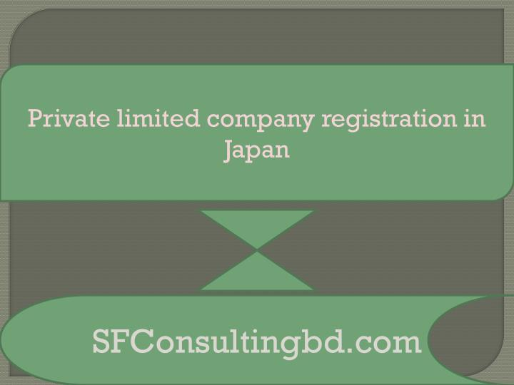 private limited company registration in japan n.