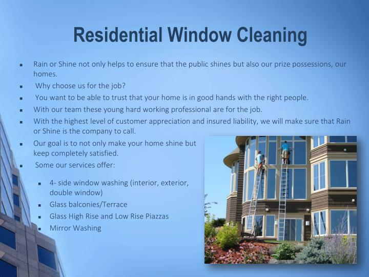 Ppt professional window cleaning services powerpoint - Exterior window cleaning services ...