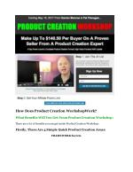 how does product creation workshopwork what
