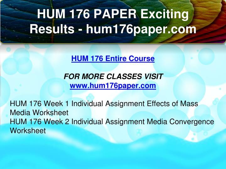 hum176 effects of mass media worksheet