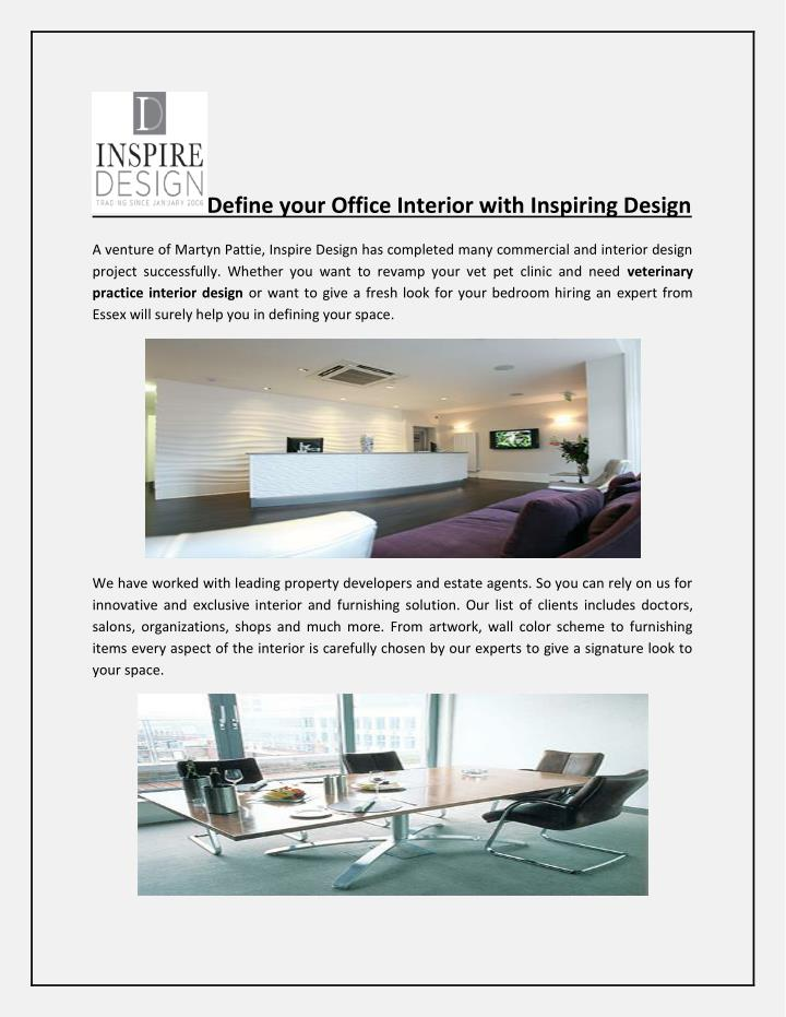 Inspiring innovative office Workplace Define Your Office Interior With Inspiring Design Ppt Define Your Office Interior With Inspiring Design Powerpoint