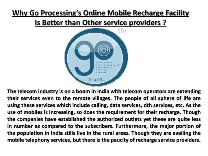 why go processing s online mobile recharge n.