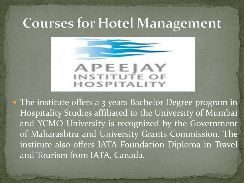 PPT - Hospitality Management Courses PowerPoint Presentation