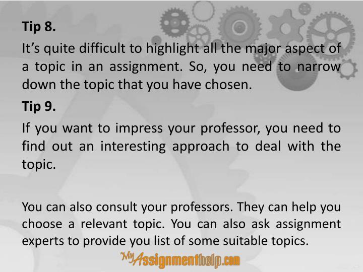 interesting assignment topics