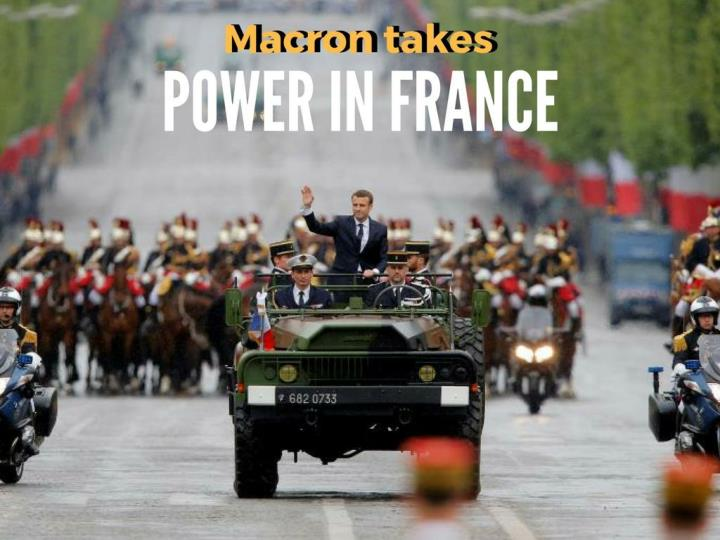 macron takes power in france n.