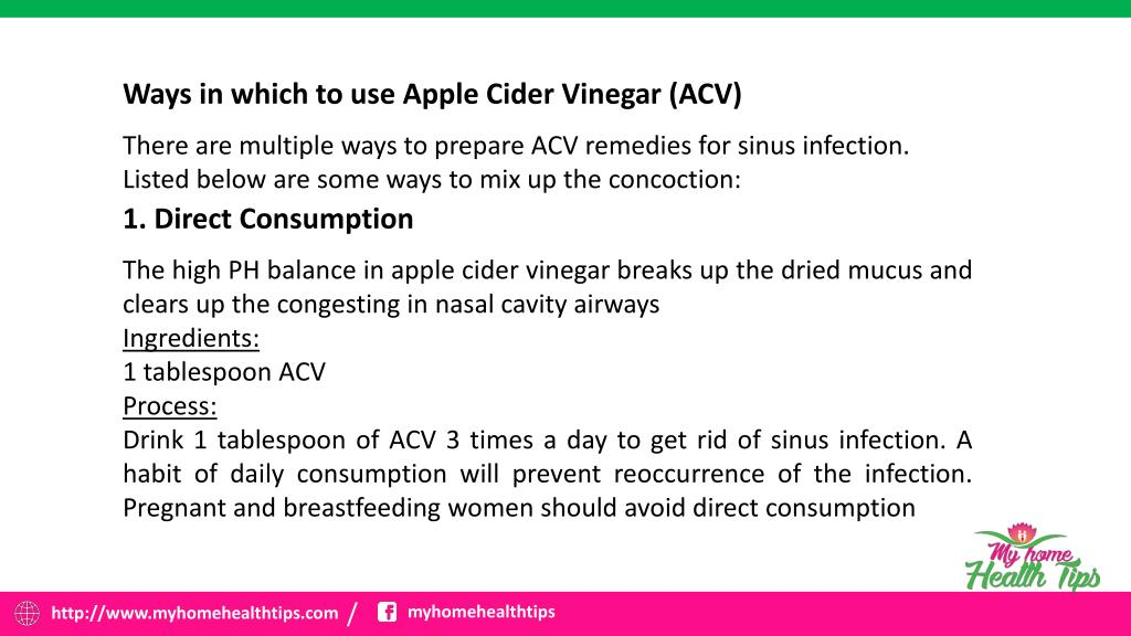 PPT - Uses Of Apple Cider Vinegar For Sinus Infection PowerPoint