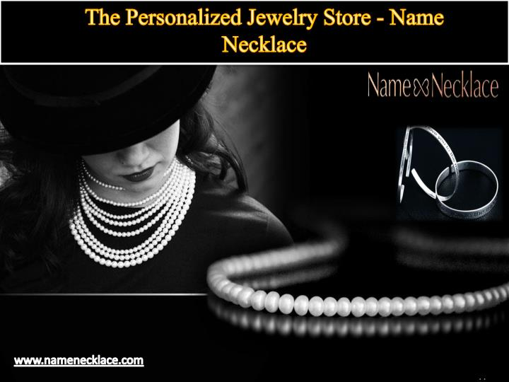 the personalized jewelry store name necklace n.