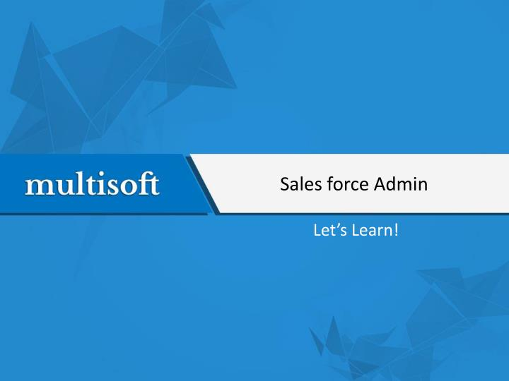 PPT - Salesforce Admin Training PowerPoint Presentation - ID:7580526