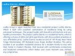 lodha eternis about