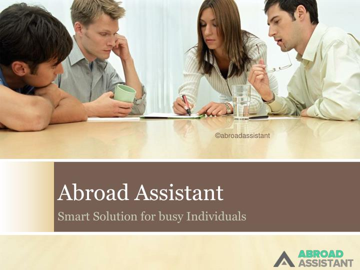abroad assistant n.