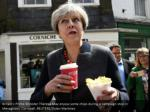 britain s prime minister theresa may enjoys some