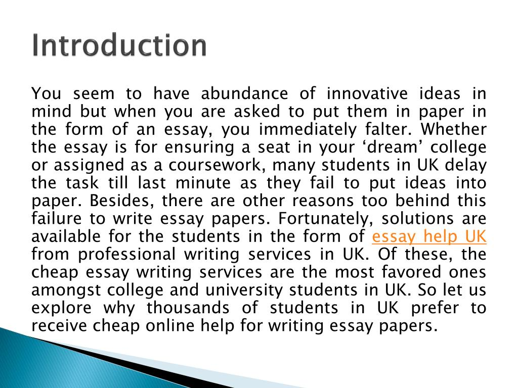 Cheap dissertation writing the introduction