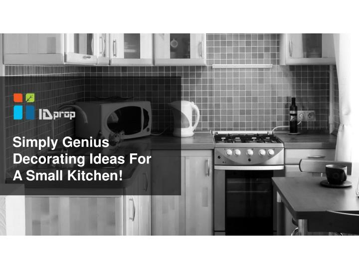 simply genius decorating ideas for a small kitchen n.