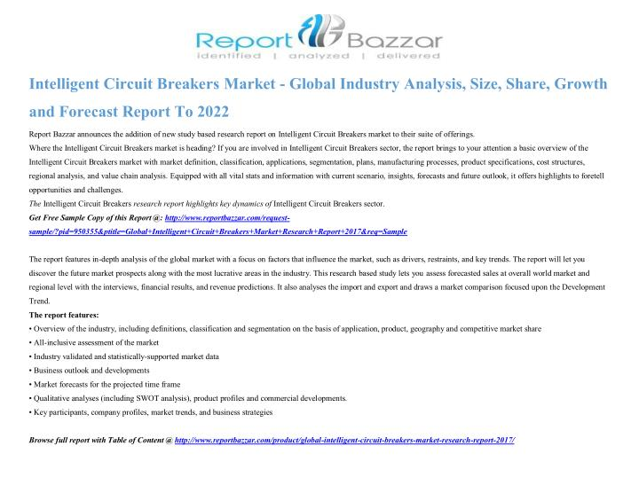 intelligent circuit breakers market global n.