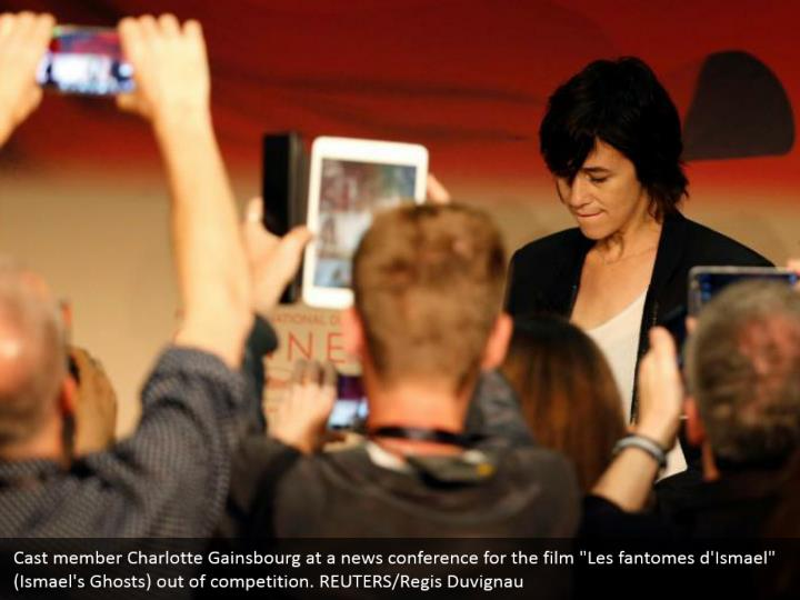 "Cast member Charlotte Gainsbourg at a news conference for the film ""Les fantomes d'Ismael"" (Ismael's Ghosts) out of competition. REUTERS/Regis Duvignau"