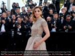 clotilde courau poses on the red carpet during