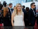 singer louane poses on the red carpet during