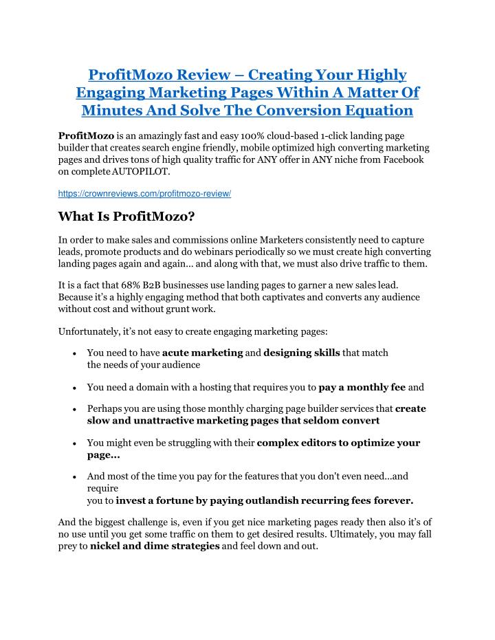 profitmozo review creating your highly engaging n.