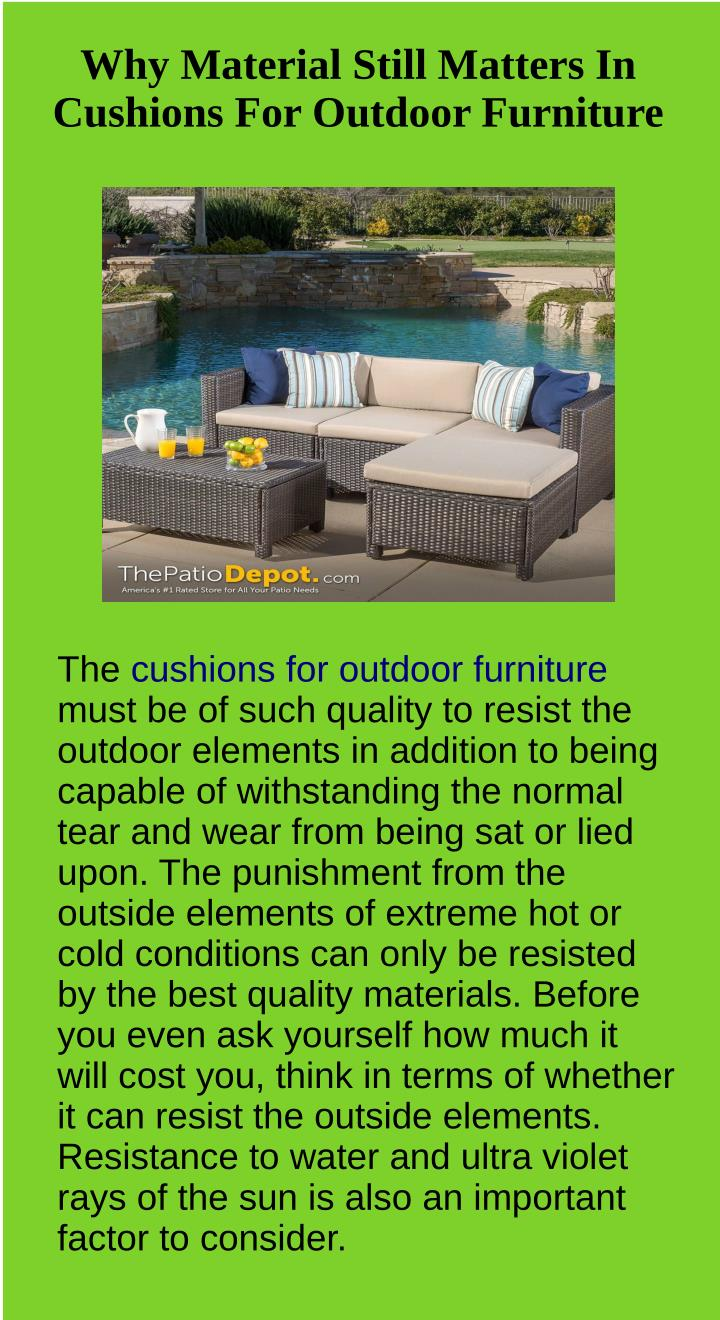 why material still matters in cushions n.