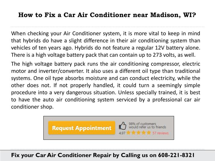 ppt how to fix car air conitioner in madison wi powerpoint presentation id 7582421. Black Bedroom Furniture Sets. Home Design Ideas