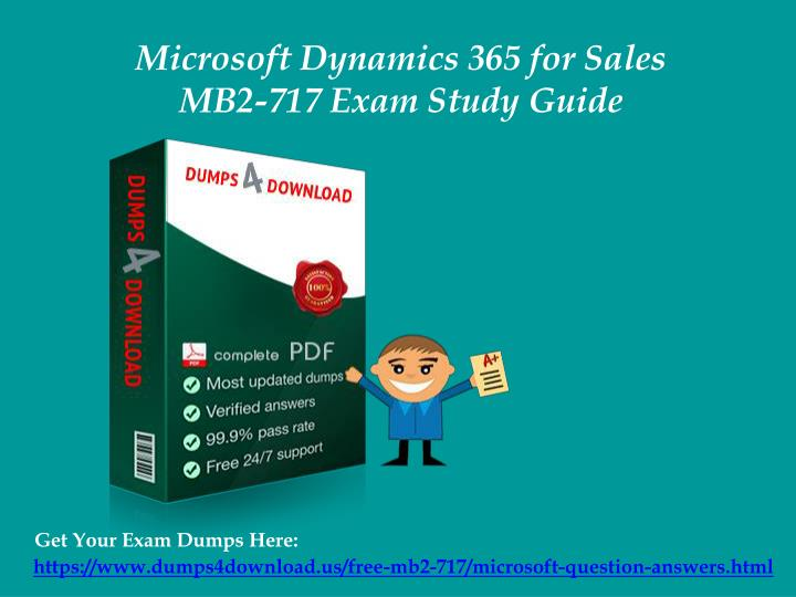 Exam MB2-717 Microsoft Dynamics 365 for Sales Flashcards