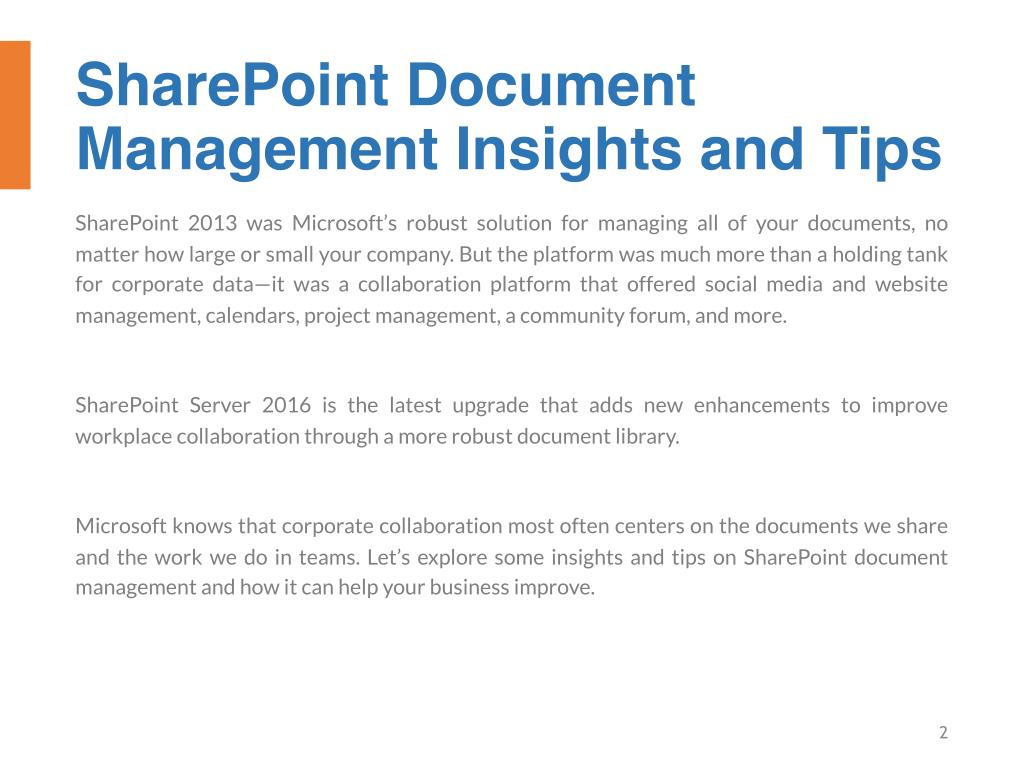PPT - Top 10 SharePoint Document SharePoint Insights and