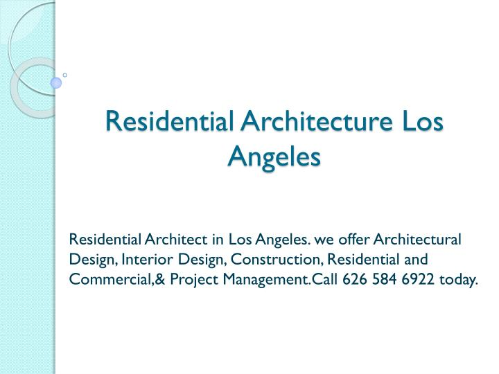 residential architecture los angeles n.