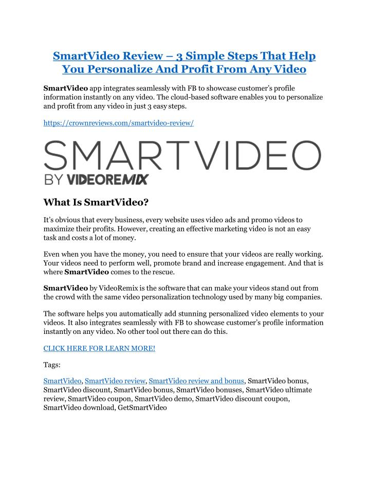 smartvideo review 3 simple steps that help n.