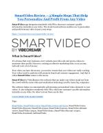 smartvideo review 3 simple steps that help