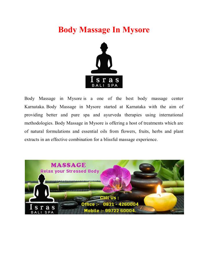 body massage in mysore n.