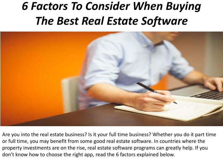 PPT - 6 Factors To Consider When Buying The Best Real Estate