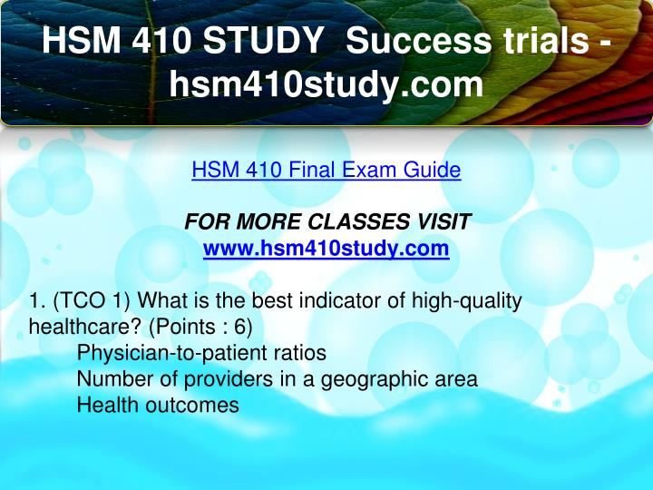 hsm 546 final exam Hsm_546_final_project_technology_in_healthcare_industry_answerdocx hcc man1021 final exam (all correct) for a-plus writer only.